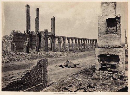 Ruins of the Railroad Depot, Charleston, South Carolina, from Photographic Views of Sherman's Campaign