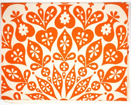 Cutout Tablecloth [Orange and white]