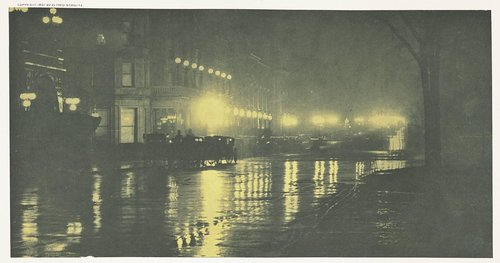 The Glow of Night - New York, from the portfolio Picturesque Bits of New York and Other Studies