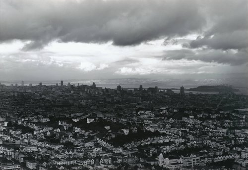 View of San Francisco in the Rain, from Portfolio Two: Twelve Photographs by Pirkle Jones