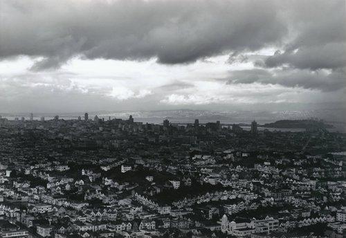 View of San Francisco in the Rain, from Portfolio Two: Twelve Photographs by Pirkle Jones