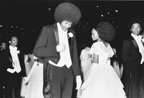 Couple at a debutante ball, Beverly Hills, California