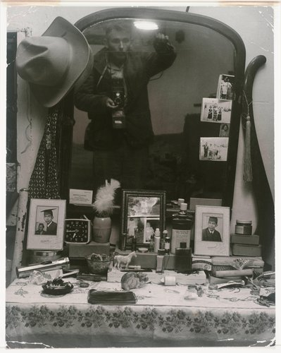 Bureau with Portraits and Mementos (and self portrait), Picuris Pueblo, NM