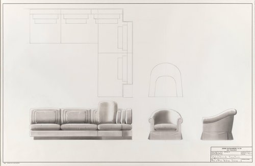 Upholstered furniture for Mr. and Mrs. Peter Selz
