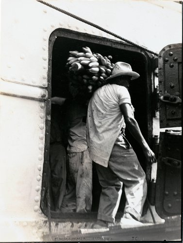 "Untitled [""Loading bananas in Veracruz for the U.S.""]"