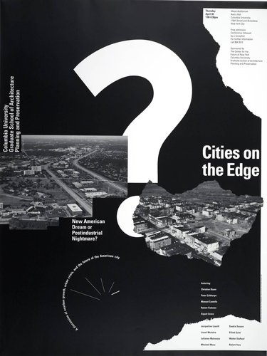 Columbia University, Cities on the Edge Symposium poster