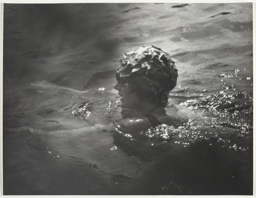 image of 'Summer in Skorpios, Jackie Taking a Swim, Skorpios, Greece, August 25, 1970'