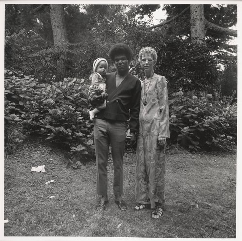 Interracial Couple and Baby, Golden Gate Park, August, 1968