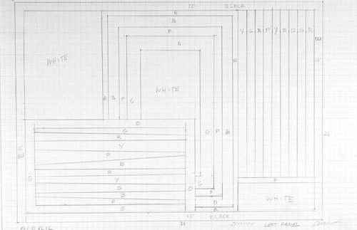 Working drawing for Wall Drawing 937