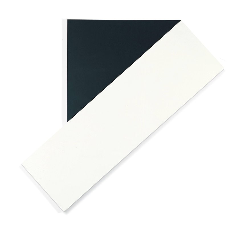 image of Black Triangle with White