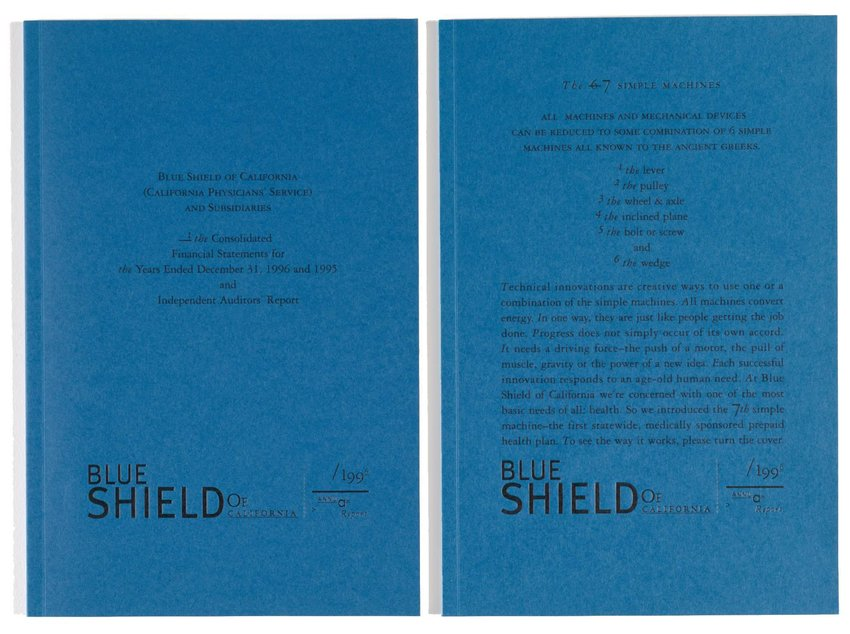 image of 'Blue Shield of California 1996 Annual Report'