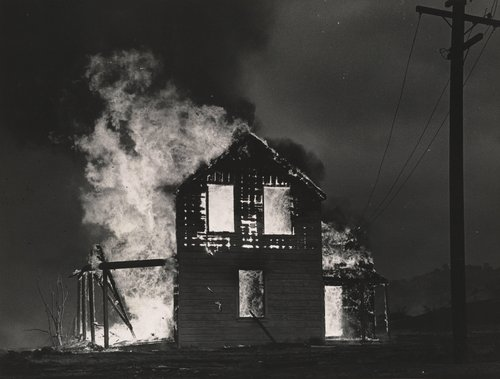 Death of The Valley [House, engulfed in flames, Berryessa Valley]