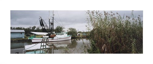 Shrimp boat, Bayou Dularge, Terribone Parish, Louisiana, 1989