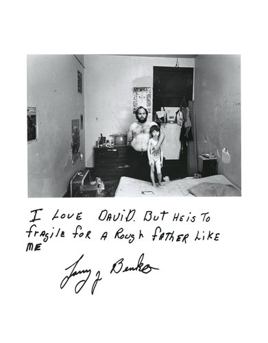 Larry Benko and his son, from the series Rich and Poor