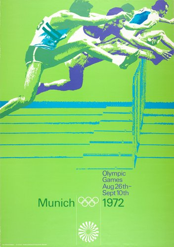 otl aicher 1972 munich olympics gymnastics poster. Black Bedroom Furniture Sets. Home Design Ideas