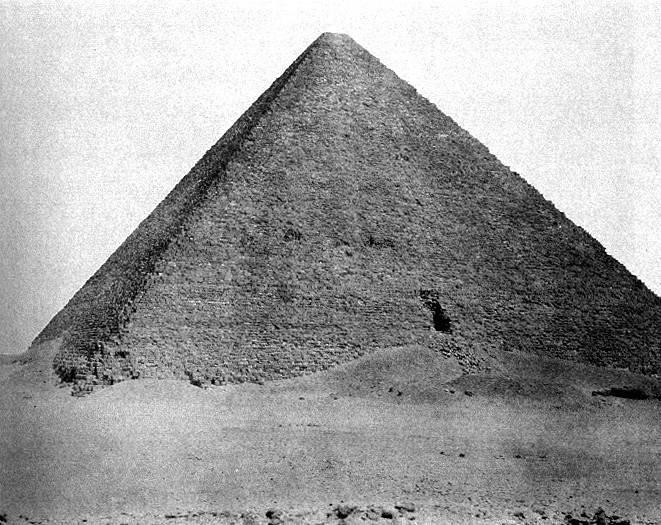 image of 'Djîzeh (Nécropole de Memphis), Pyramide de Chéops (Grande Pyramide) [Gizeh (Necropolis of Memphis), Pyramid of Cheops (Great Pyramid)]'