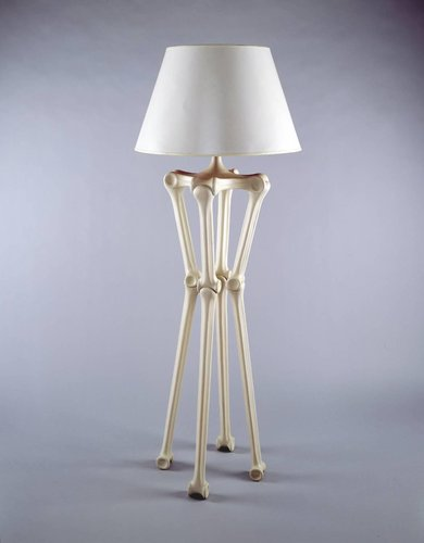 Bone floor lamp