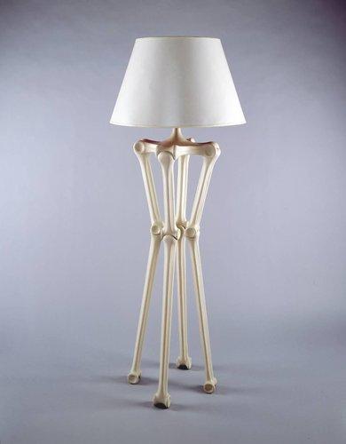 Bone floor lamp