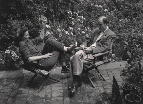 Untitled [Nancy and Beaumont Newhall in Ansel Adams' garden, San Francisco]
