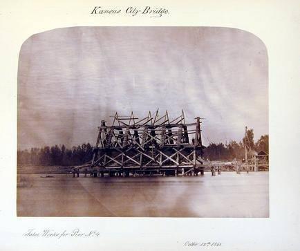image of 'Kansas City Bridge, False Works for Pier No. 4'