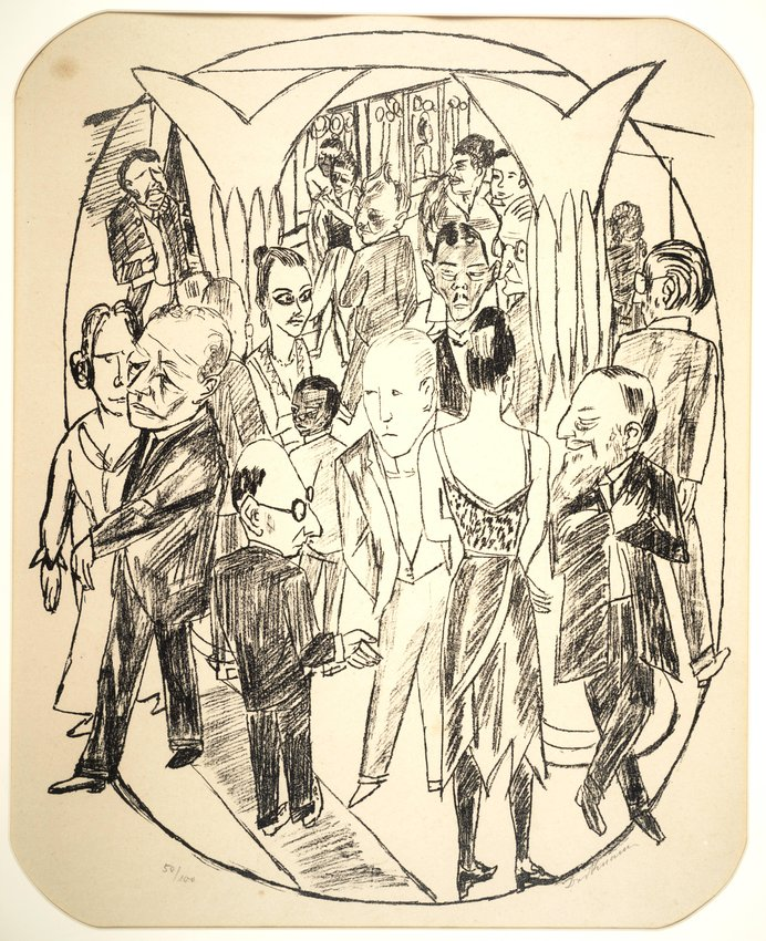 image of 'Das Theaterfoyer (Figures in the theater foyer)'