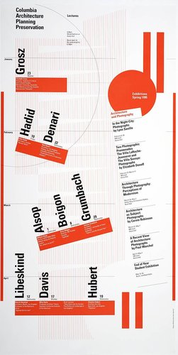 Columbia University School of Architecture, Planning, and Preservation, Spring 1995 Lecture Series Poster