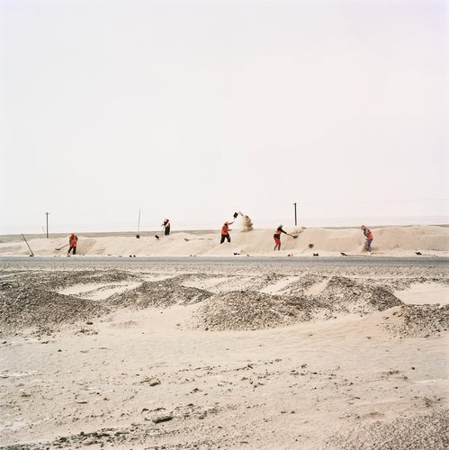 Freeing the Silk Road From Shifting Sand Dunes, Taklamakan, Xinjiang, China, from the series Travelling through the Eye of History