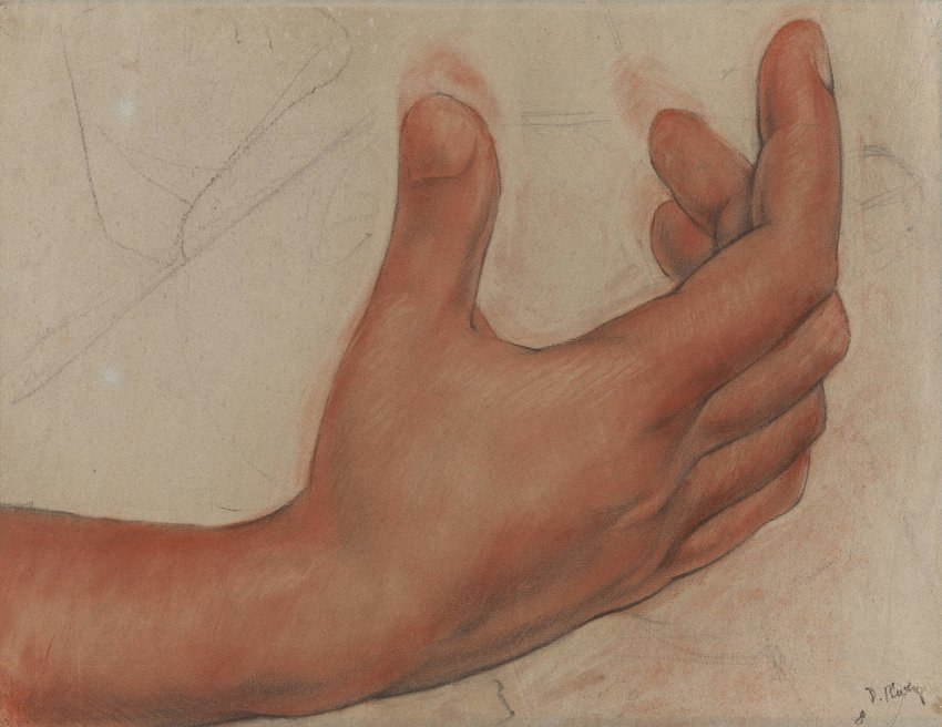image of Untitled (Hand), study for the mural Creation, Bolívar Amphitheater, National Preparatory School, Mexico City