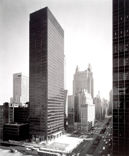 Mies van der Rohe (with Philip Johnson and Kahn and Jacobs), Seagram Building, New York City, 1958