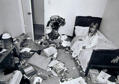 """I wanted Christina to learn some responsibility for cleaning her room, but it didn't work."" From the series Suburbia"