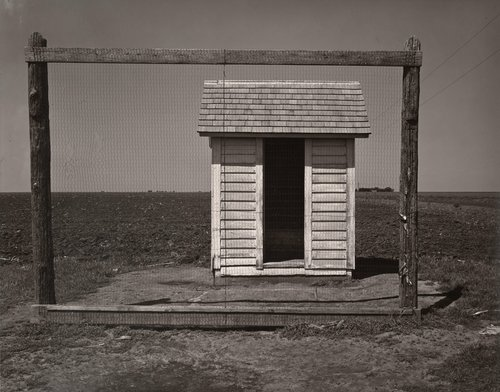 Outhouse and Backstop, Nebraska
