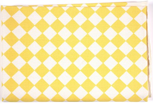 Checkerboard Tablecloth [Yellow on white]