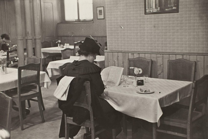 image of Woman in restaurant