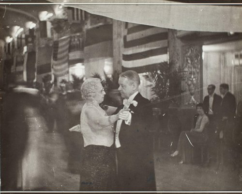 Italian Embassy party: Mrs. Jacob Leander Loose dances with General Horton