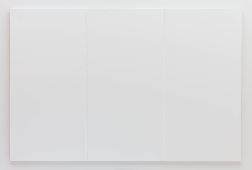 white painting three panel