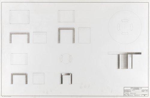 Table designs for Mrs. Marion Greene