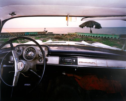 The Beach at Miramar, Looking North from Rudy Hermando Ramos's 1957 Chevrolet, May 20, 1998, Havana, Cuba