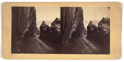 Untitled [View of mountain road in Norway]