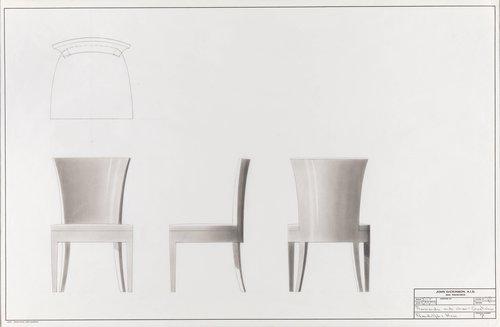 Normadie goatskin side chair for Randolph & Hein