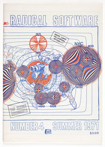 Cover design for Radical Software magazine, summer 1971