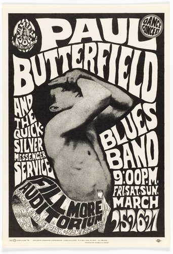 Paul Butterfield Blues Band, Quicksilver Messenger Service; Fillmore Auditorium, March 25-27, 1966