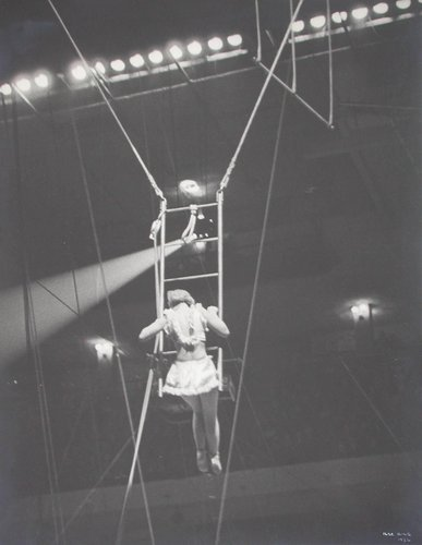 Girl in Ladder, Circus, NY