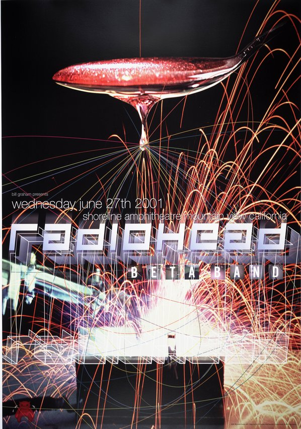 image of 'Radiohead, Beta Band; Shoreline Amphitheater; June 27, 2001'