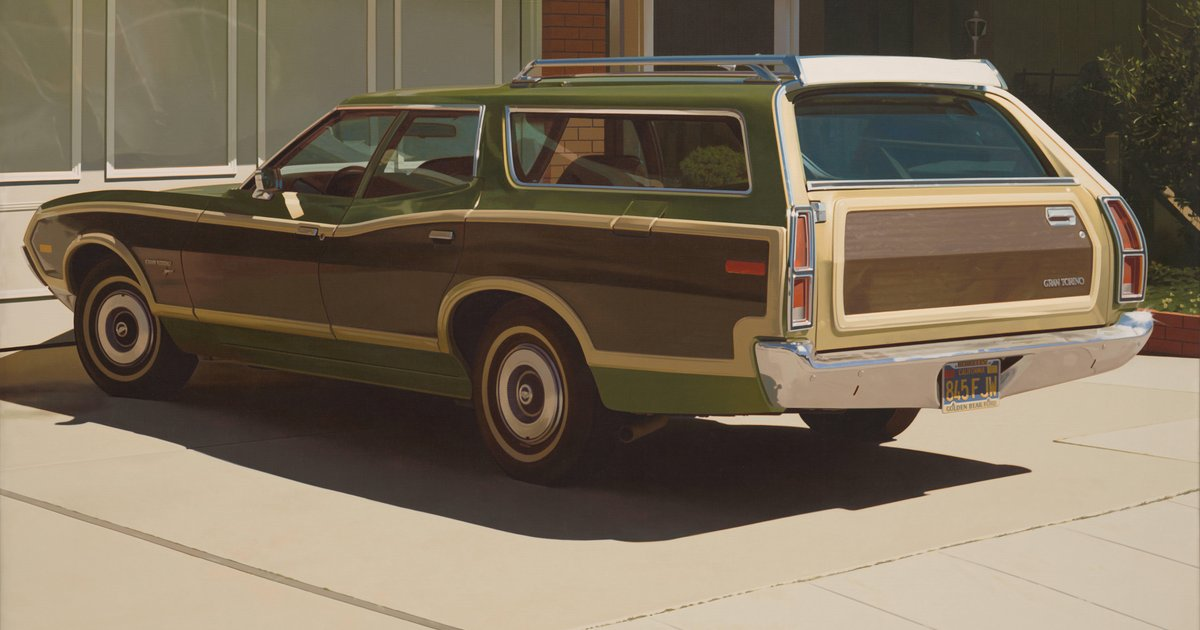 73 Ford Gran Torino >> Robert Bechtle, Alameda Gran Torino, 1974 · SFMOMA