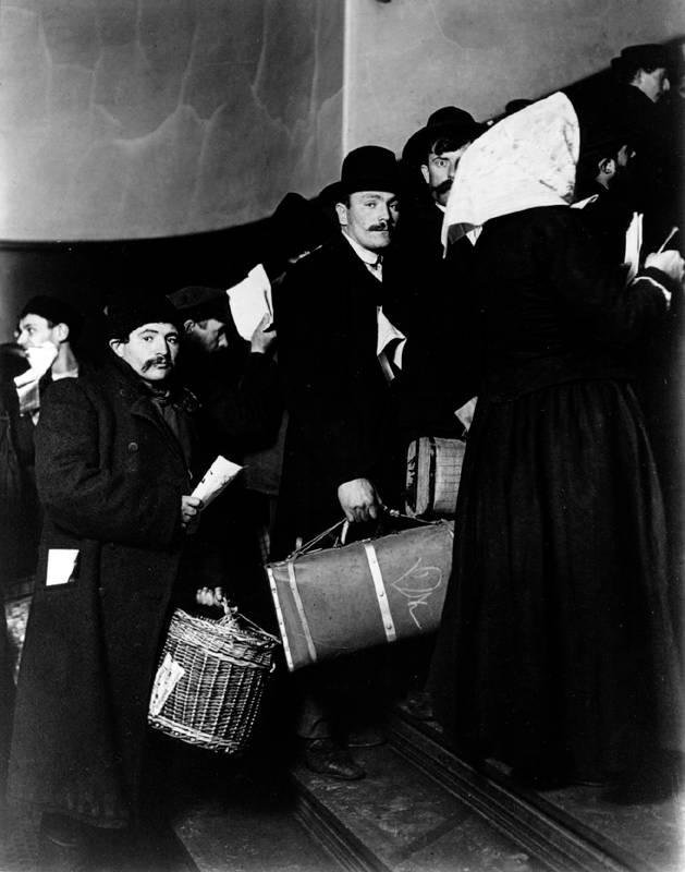 image of 'Climbing Into the Promised Land, Ellis Island, New York'
