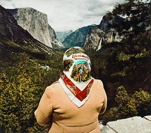 Woman with Scarf at Inspiration Point, Yosemite National Park, CA