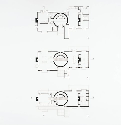 House for Nancy and Steven Oliver, San Francisco, California (Floor Plans)