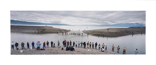 Fishing class at 'The Fishing Hole', Homer Spit, Homer, Kenai Peninsula Co., Alaska