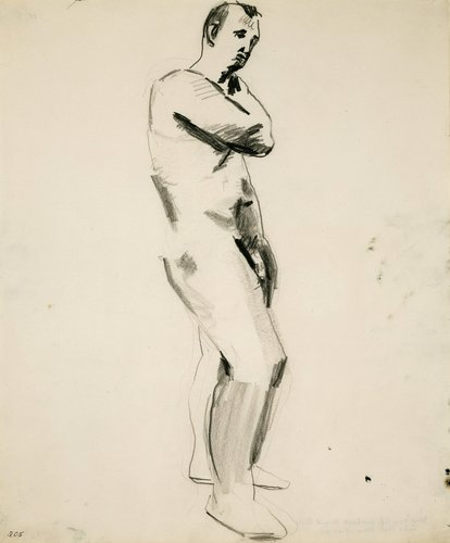 Untitled (Nude Male Figure)