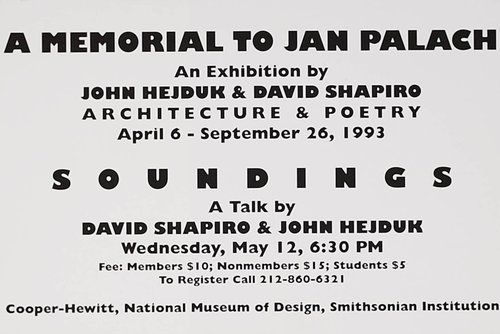 A Memorial to Jan Palach Exhibition Announcement